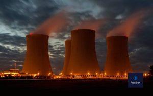 نمای بیرونی برج خنک کننده هسته ای